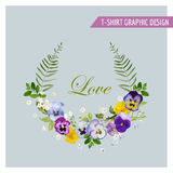 Floral Wreath Graphic Design Royalty Free Stock Photos