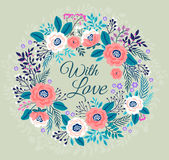 Floral wreath. Royalty Free Stock Photo