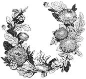 Floral wreath Stock Photo