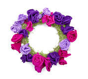 Floral wreath. Isolated on the white background Stock Images