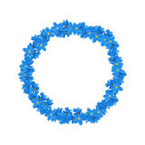 Floral wreath made of forget-me-not flowers Royalty Free Stock Photography