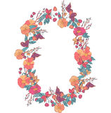 Floral wreath made of wildflowers Stock Photos