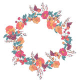 Floral wreath made of wildflowers Stock Image