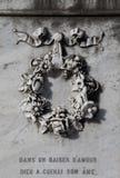 Floral wreath ornament Stock Photo