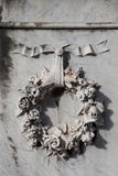 Floral wreath ornament Stock Image