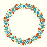 Floral wreath stock illustration