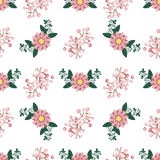Floral wreath seamless pattern vector. Stock Photo