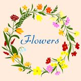 Floral wreath for seasonal design Royalty Free Stock Photo