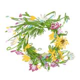 Floral wreath sketch for your design Royalty Free Stock Image