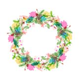 Floral wreath sketch for your design Royalty Free Stock Photography