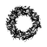 Floral wreath sketch for your design Stock Photography