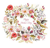 Floral wreath Stock Image
