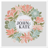 Floral wreath - vector wedding design