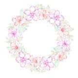 Floral wreath - wedding design Royalty Free Stock Photos