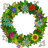 Floral wreath. On white background vector Royalty Free Stock Images