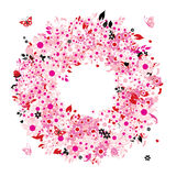 Floral wreath for your design Royalty Free Stock Image