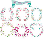 Floral wreaths Royalty Free Stock Photos