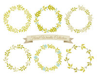 Floral Wreaths Collection Royalty Free Stock Images
