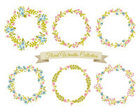 Floral Wreaths Collection Stock Photography