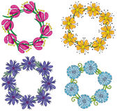 Floral wreaths Stock Images