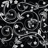 Floral y mariposa stock de ilustración