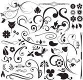 Floral y remolinos Imagenes de archivo