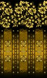 Floral yellow pattern with grange decor Royalty Free Stock Image