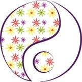 Floral Yin Yang Royalty Free Stock Photography