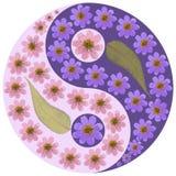 Floral Yin Yang symbol. Stock Photos