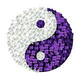 Floral Yin Yang Stock Photos
