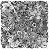 Floral zentangle vector illustration Stock Photo