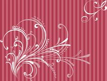 Floralbackground. Floral pattern on pink background Stock Image