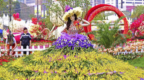 Floralies 2015 d'internationall de Hong Kong Photographie stock