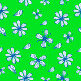 Florall vector seamless background stock illustration