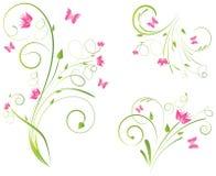 florals σχεδίων πεταλούδων Στοκ φωτογραφία με δικαίωμα ελεύθερης χρήσης