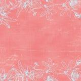 背景植物的florals纸葡萄酒 免版税库存照片