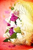 Florals blossoms card background. Happy send to lovers Royalty Free Stock Photo