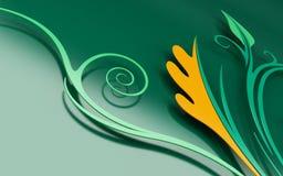 florals coloreados 3d stock de ilustración