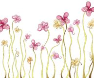 Florals da forma da borboleta Fotos de Stock Royalty Free