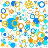 Florals ed anelli illustrazione vettoriale