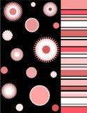 Florals en strepen vector illustratie