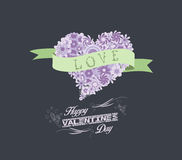 Florals heart happy valentines romantic Royalty Free Stock Photo