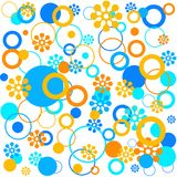 Florals and rings vector illustration