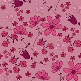 Florals of seamless pattern background Stock Image