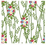 Florals of seamless pattern background Stock Images