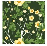 Florals of seamless pattern background Royalty Free Stock Photos