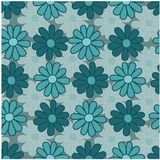 Florals of seamless pattern background Royalty Free Stock Photo