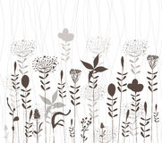 Florals vector silhouette Royalty Free Stock Photography