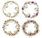 Florals wreath design Stock Photos