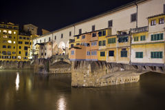 Florance. Florence, night view of Ponte Vecchio Stock Images